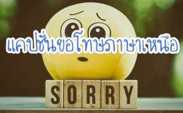 แคปชั่นขอโทษภาษาเหนือ